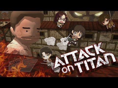 Attack On Titan Tribute Game  |  Нас было 4.5 и 40 титанов против нас... | (МОНТАЖ) | Атака Титанов!