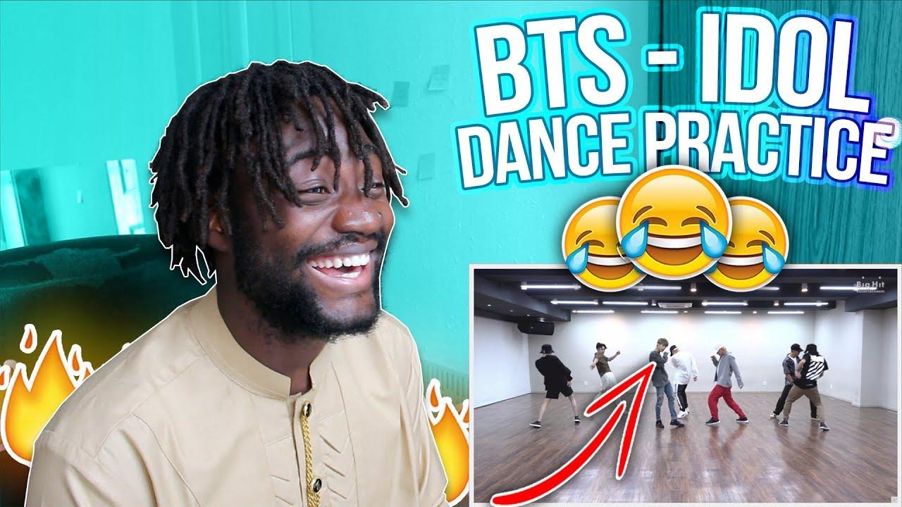 Choreography Bts Idol Dance Practice Best Dance Practice Ever Idolchallenge Reaction