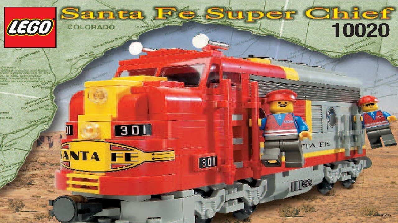 Lego Santa Fe Locomotive 10020 Instruction Booklet Youtube