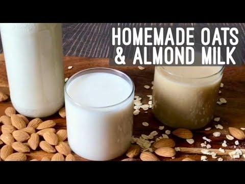 Homemade Oats & Almond Milk | Vegan Plant Milk Recipe | How to make Oats Almond Milk At Home