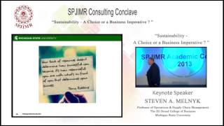SAC 2013 - Now, SBAC - Consulting Conclave - Steven A Melnyk - Keynote Speaker - 1