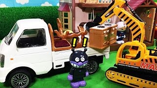 Working cars Children's toys Toys Anpanman Moving help Shovel car work work bulldozers