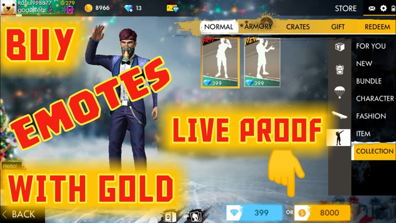 FreeFire: How To Get Free Emotes In Free Fire🔥| Free Emotes Trick (Hindi)