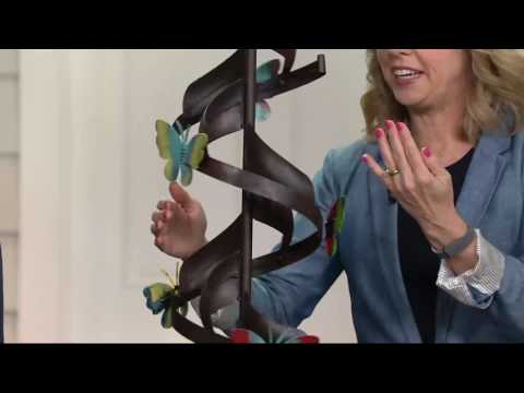Compass Home Whimsical Butterfly Wind Spinner on QVC