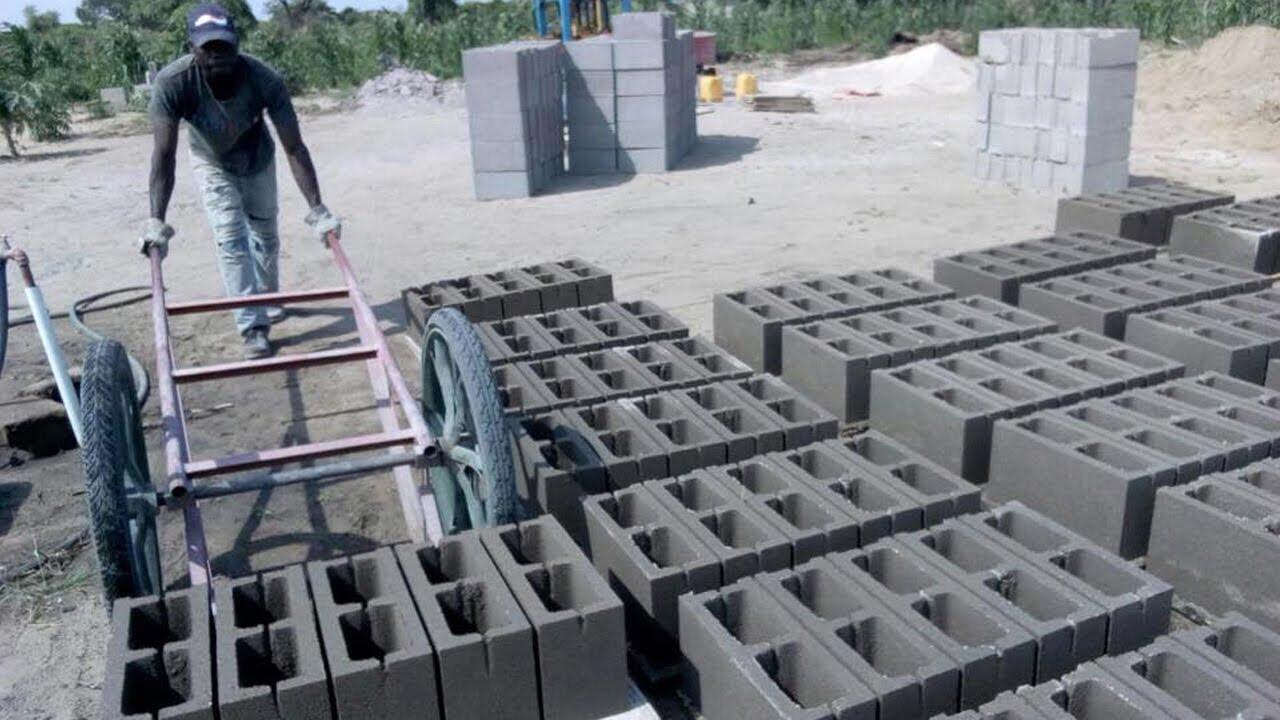 QT40 1 concrete hollow block making machine price in ghana, block moulding  machine in ghana