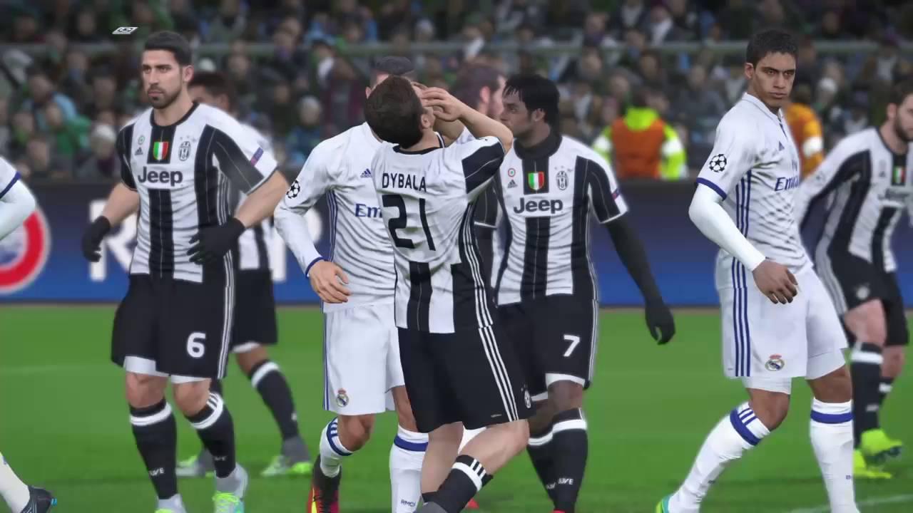 Pes  Uefa Champions League Final Real Madrid Vs Juventus Ps Full Match