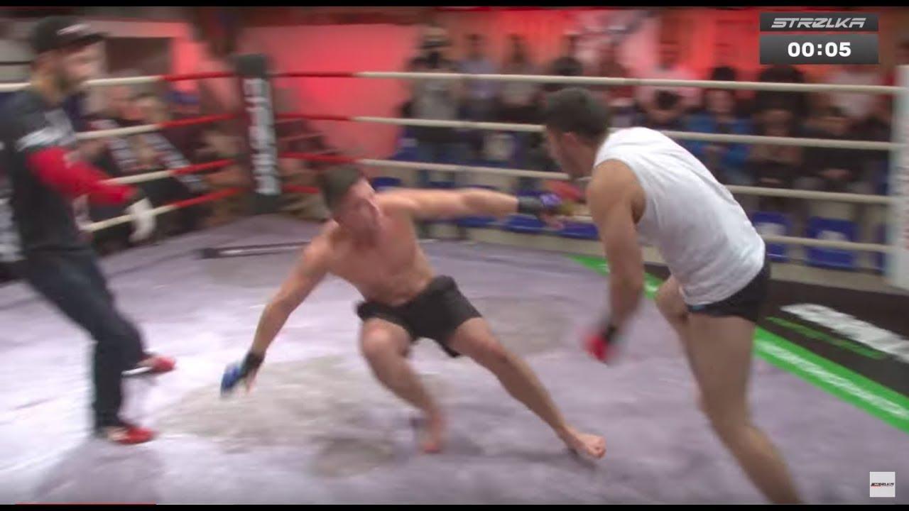 ЗЛОЙ  валит Кабана на ринге !!!