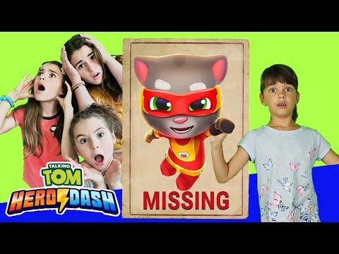 Talking Tom Hero Dash is Missing| Saving Tom in Real Life| Kids Skit