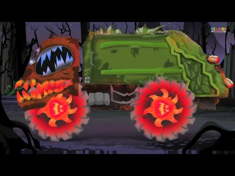 Scary Monster Street Vehicles | Scary Videos for Kids & Toddlers