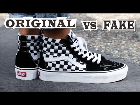 Vans Sk8 Hi Platform Black & White Checkerboard Original