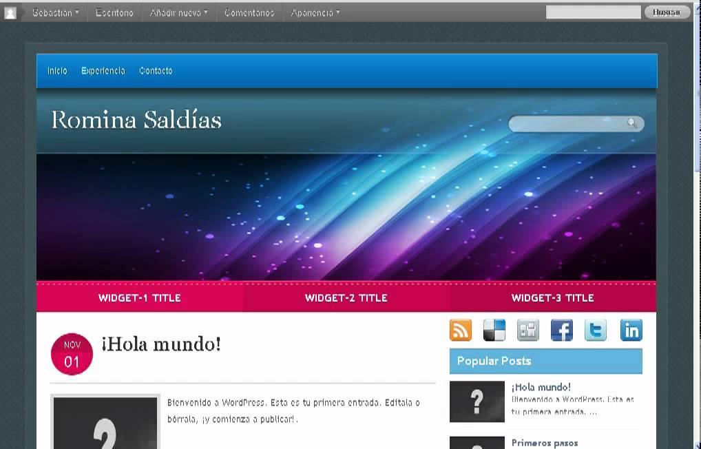 Fantástico Temas De Perfil Wordpress Imagen - Colección De ...