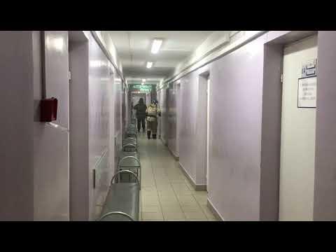 Возгорание произошло в поликлинике №1 в Иркутске