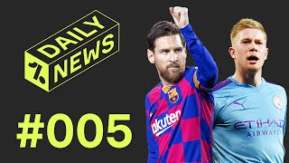On today's daily news - city lay down marker for next season, messi could leave barcelona, chelsea hot digne's tail, a transfer round up and friday feels!...