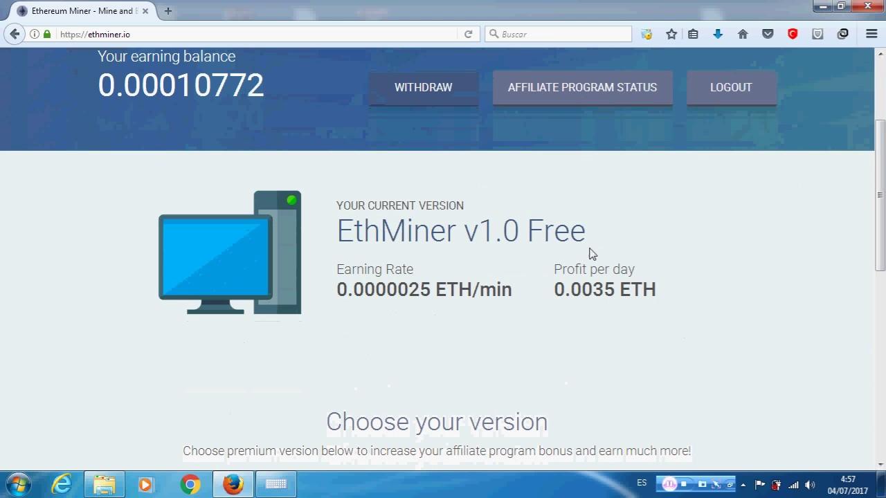 ETHEREUM MINER GANA 0 00350000 ETH DIARIOS GRATIS resgistrate aprovecha!!!!