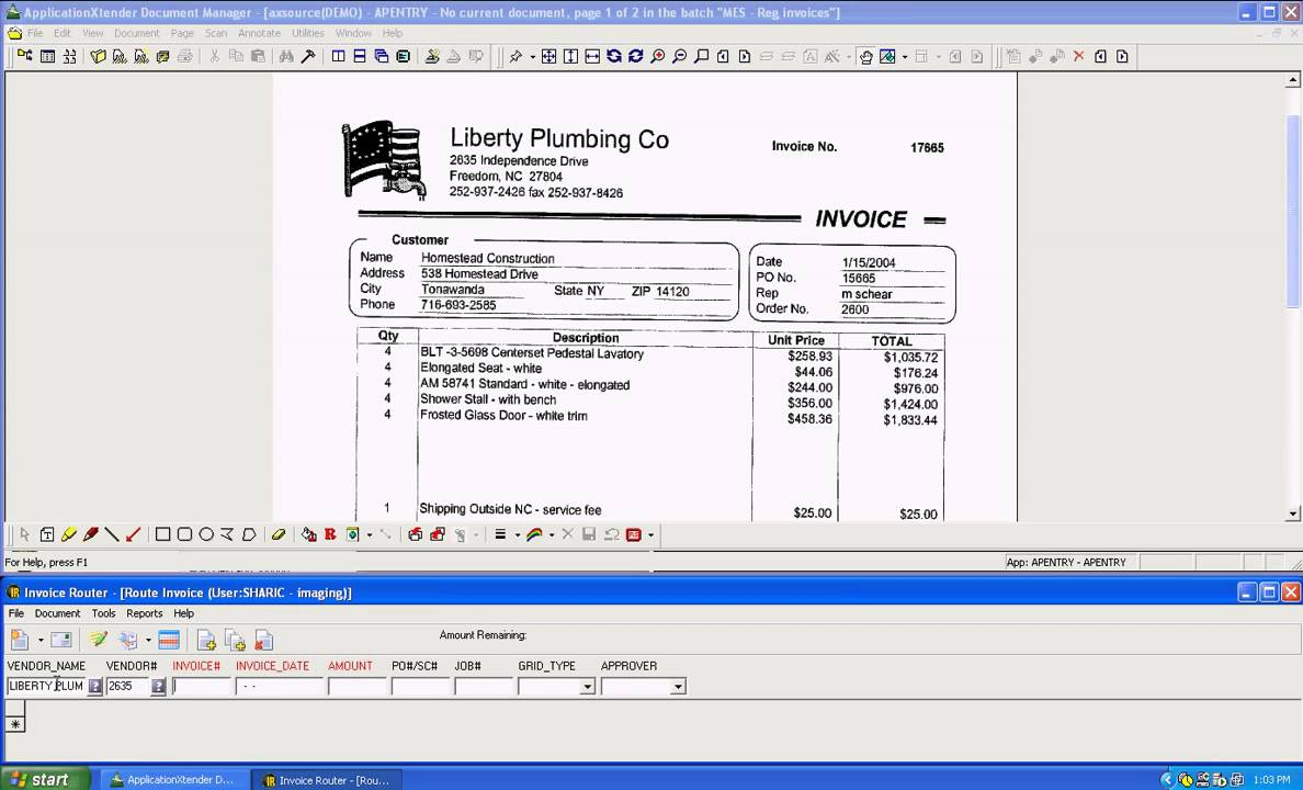 Route Invoice Invoice Router Construction Imaging YouTube - Invoice routing software