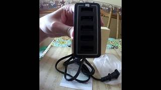 5 Port Family-Size Desktop Charger For Mobile Devices Smartphones Tablets