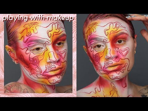 Neon topography | Creative makeup transformation thumbnail