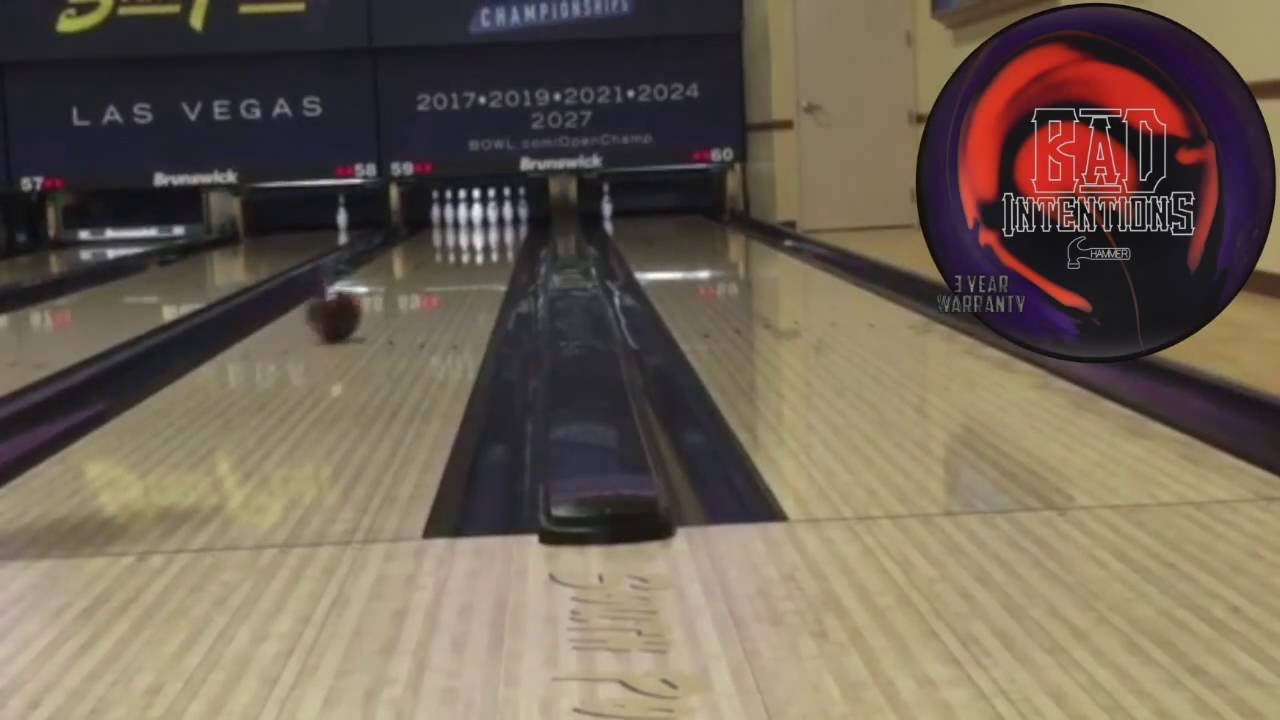 Hammer Bad Intentions Hybrid Bowling Ball Reaction Video By Andrew Guba And Nick Pollak