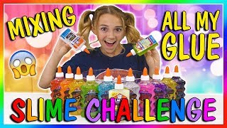 MIXING ALL MY GLUE SLIME CHALLENGE | We Are The Davises
