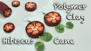 How To Make An Easy Clay Flower - Polymer Clay Hibiscus Cane Tutorial