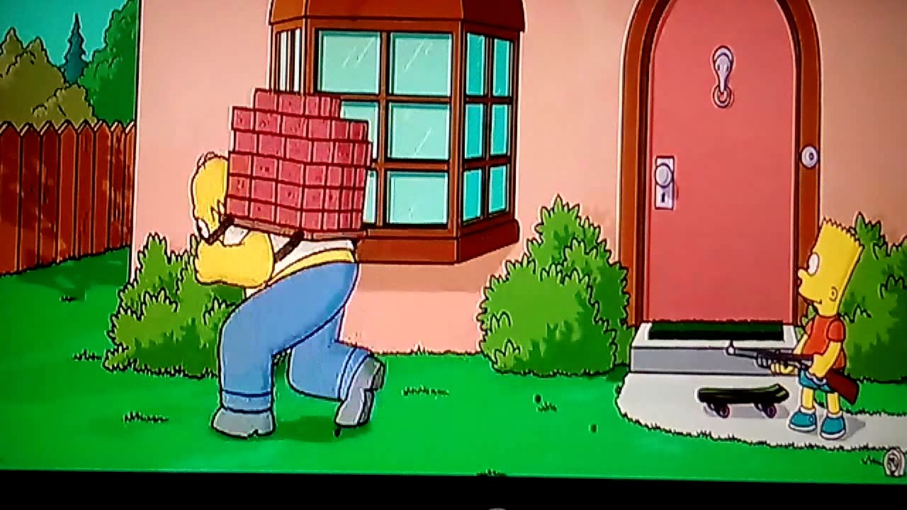The Simpsons Movie Bart Skates To Krusty Burger Naked -4077