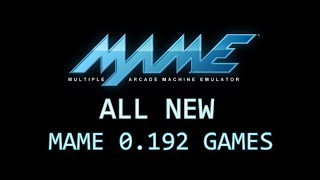 All new MAME 0.192 games