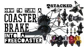 Bmx mods how t๐ make a coaster brake wheel into freecoaster wheel for free