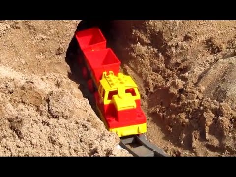 LEGO Duplo Train - 1 hour long! Outdoor railway