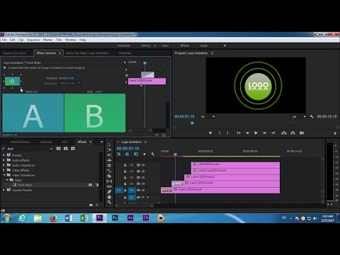 Adobe Premiere Pro cc Logo Animation