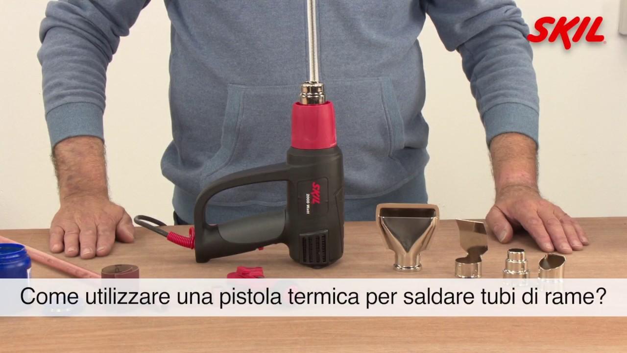 Come utilizzare una pistola termica per saldare tubi di for Tipi di tubi di rame