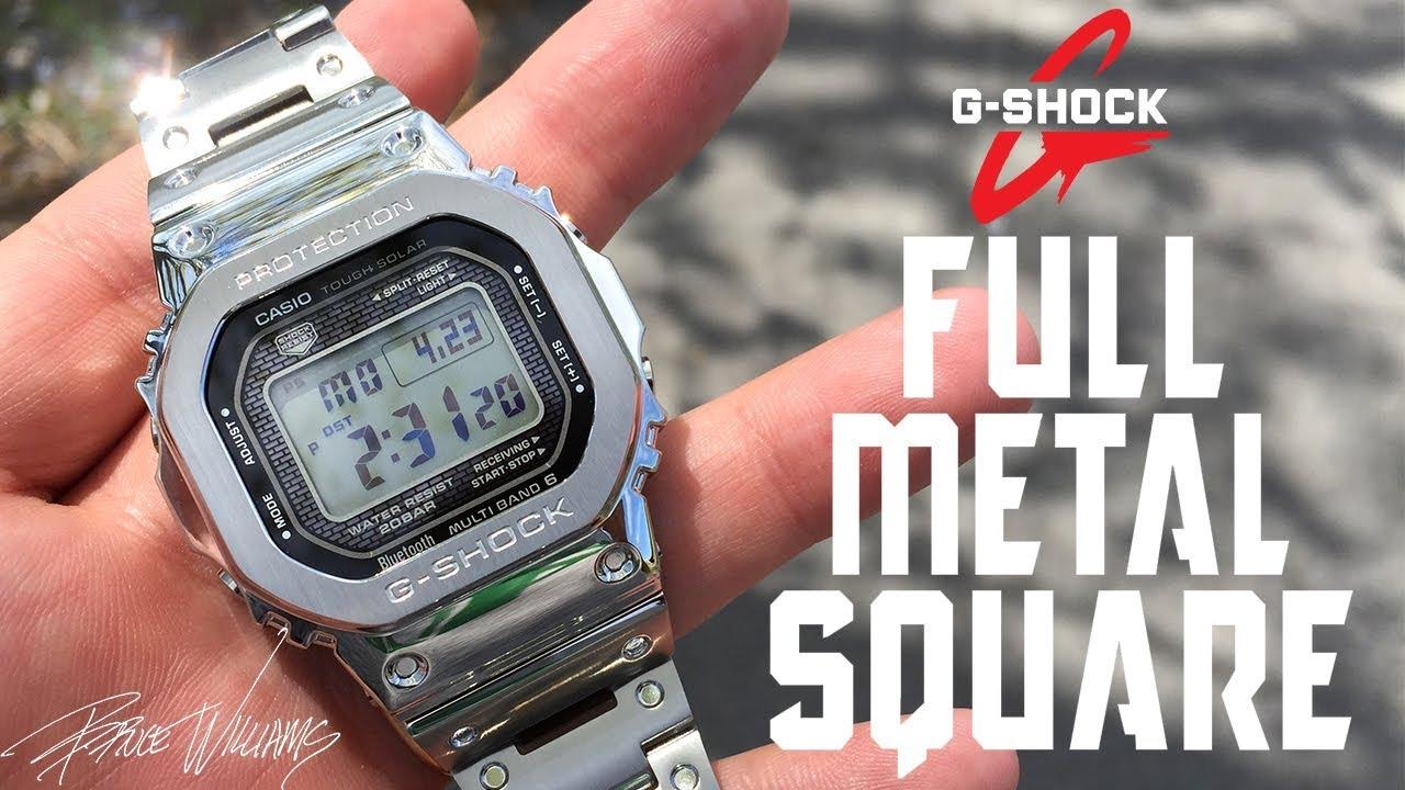 36e3e7151 G-Shock GMW-B5000 - Full Metal Square - Awesome! - YouTube