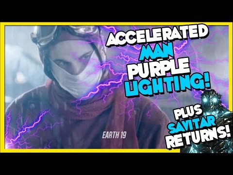 Accelerated Man Purple Lighting? Flash Season 3x14