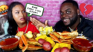 TALKING Over QUEEN BEAST Every Time She Talks For The ENTIRE VIDEO * SEAFOOD BOIL MUKBANG PRANK *