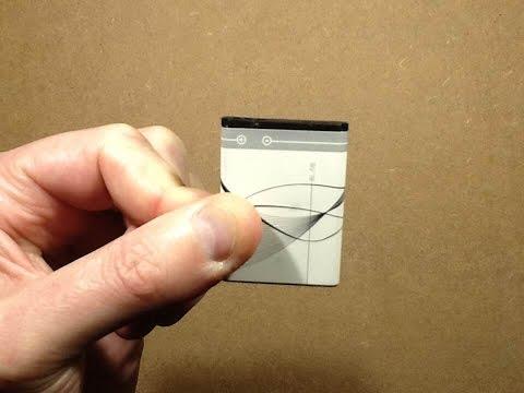 TOTAL teardown of a lithium phone battery.