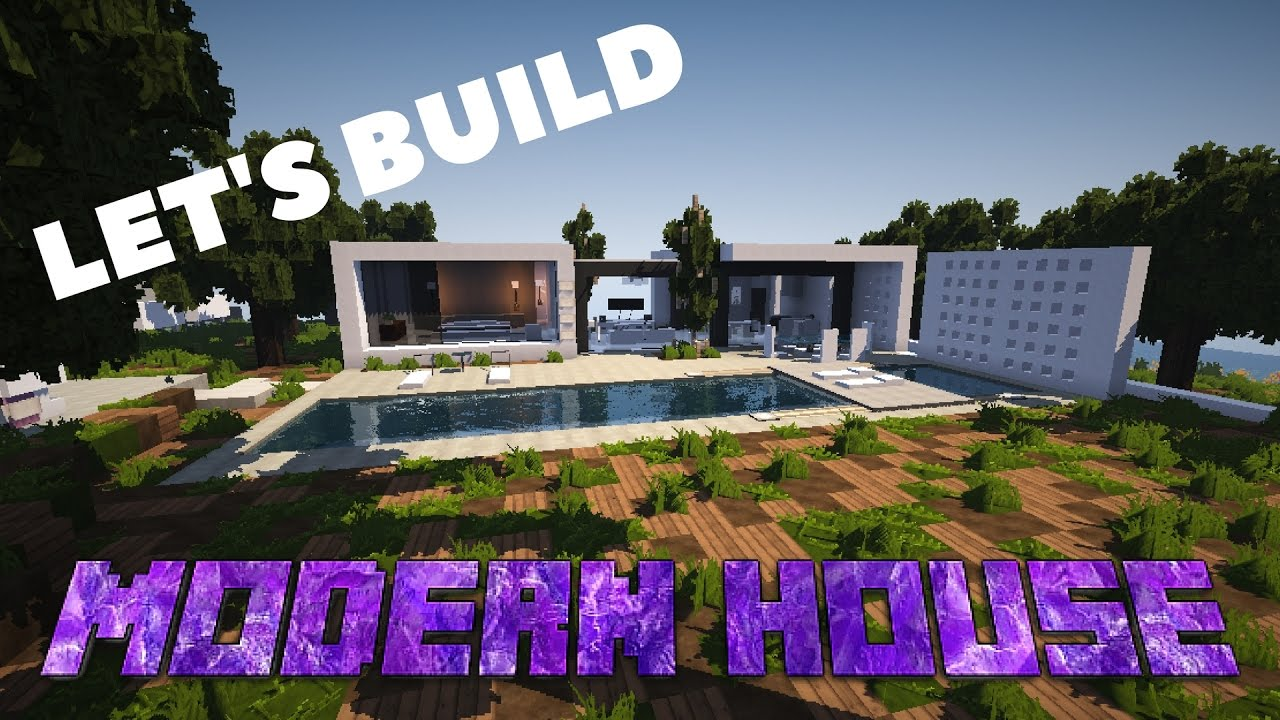 Minecraft Lets Build Modern House YouTube
