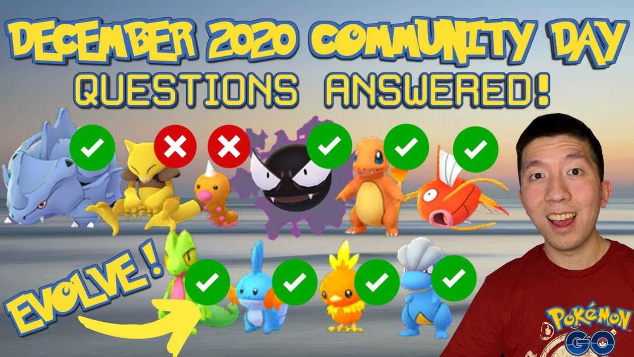 Download DECEMBER 2020 COMMUNITY DAY *EVENT QUESTIONS & DETAILS* BEST POKEMON TO EVOLVE? (Pokémon GO)