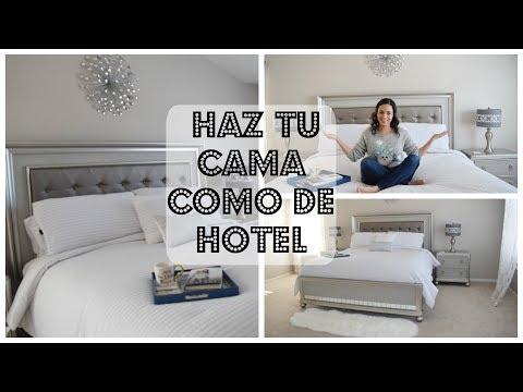 COMO HACER LA CAMA COMO DE HOTEL ELEGANTE Y COMO DECORAR UNA CAMA CUARTO MATRIMONIAL