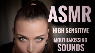 ASMR Gina Carla 👄💋 Kissing&Mouth Sounds! Extreme High Sensitive! Ear to Ear!
