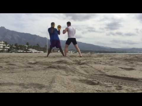 Boxing with Heavyweight Boxer Kash Ali in Marbella Spain