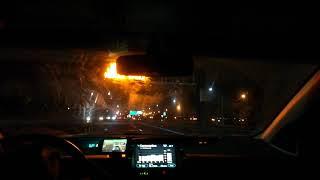 Van Wyck Expressway (I-678) Exits 13 to 7 Southbound (Night)