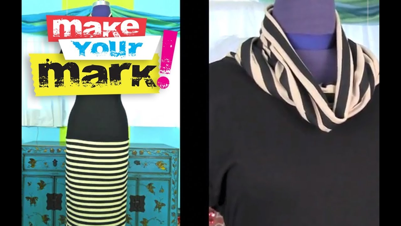 How to make a Cowl Neck Dress from a t-shirt DIY - YouTube