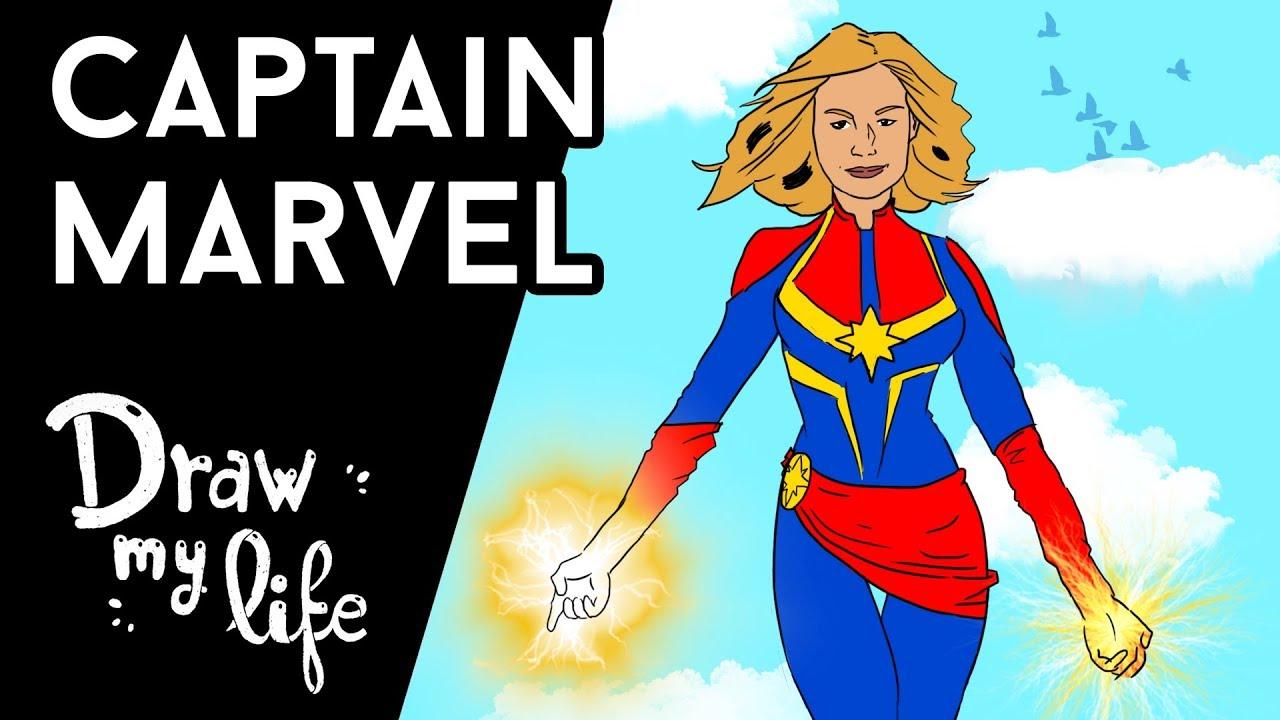 El ORIGEN de CAPITANA MARVEL #CaptainMarvel - Draw My Life