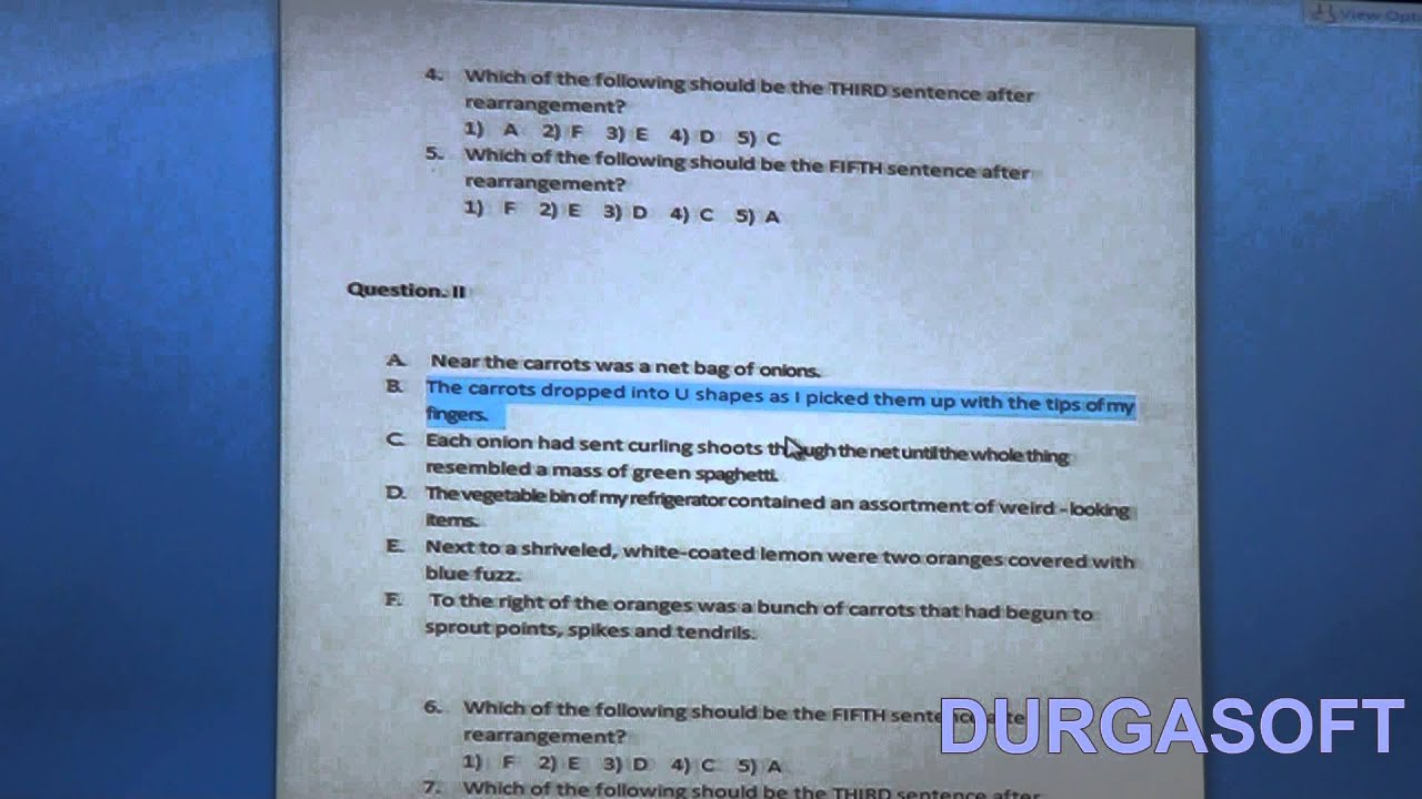 Jumbled Sentences - Part - 2 (CRT)