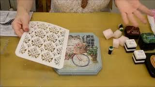 Чернильные подушечки в декупаже и микс медиа Mixed Media: видео урок Натальи Жуковой