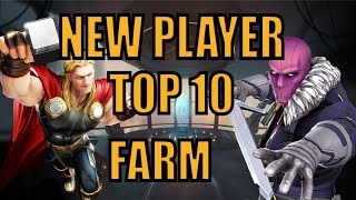 Top 10 New Pląyer Character Farms FREE TO PLAY GUIDE! (2021) - Marvel Strike Force