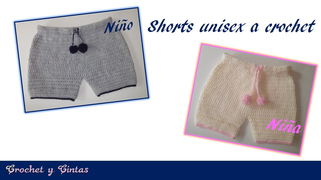 Pantalón corto – Bermuda – shorts unisex tejido a crochet - YouTube