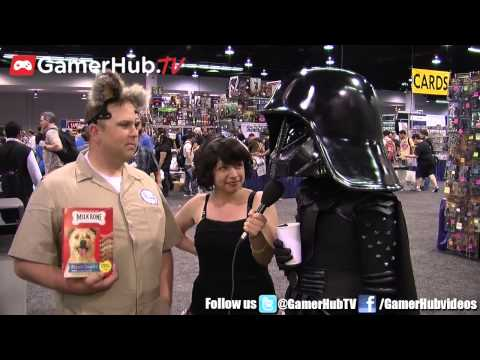 Wondercon Cosplay Dark Helmet & Barf