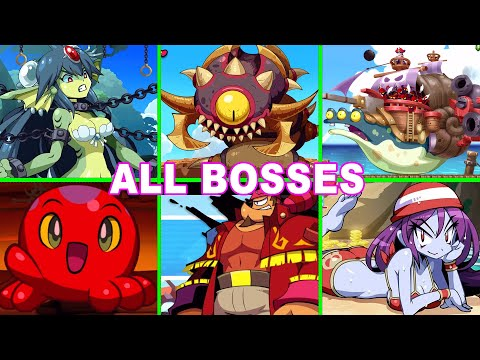 Shantae Half Genie Hero All Bosses Fight (No Damage) and Ending