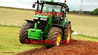 Ploughing with Giant John Deere 7280R