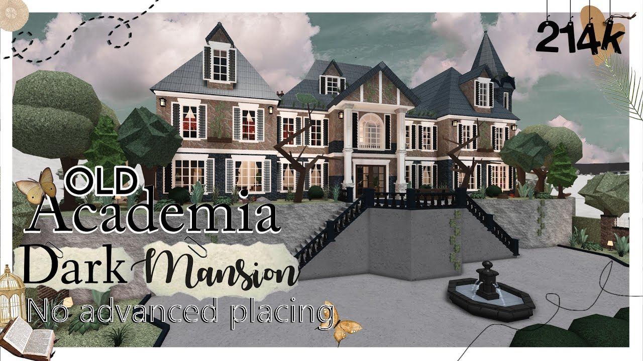 Old Dark Academia Mansion No Advanced Placing Welcome To Bloxburg Roblox Youtube